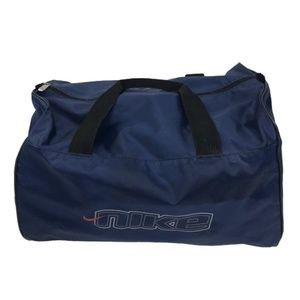 Nike Small Duffel Bag Zip Gym Fitness Spellout